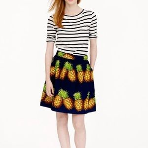 J.Crew Pineapple Print Skirt